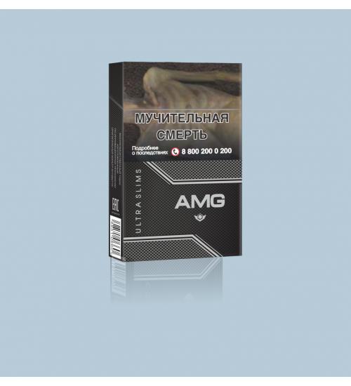"Cigarettes ""AMG Ultra Slims Black''"
